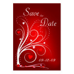 Save the Date - Red Hearts Profile Card