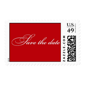 Save the Date - Red Postage Stamp