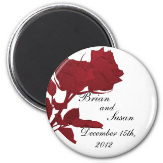 Save the Date Red Rose Magnet Template