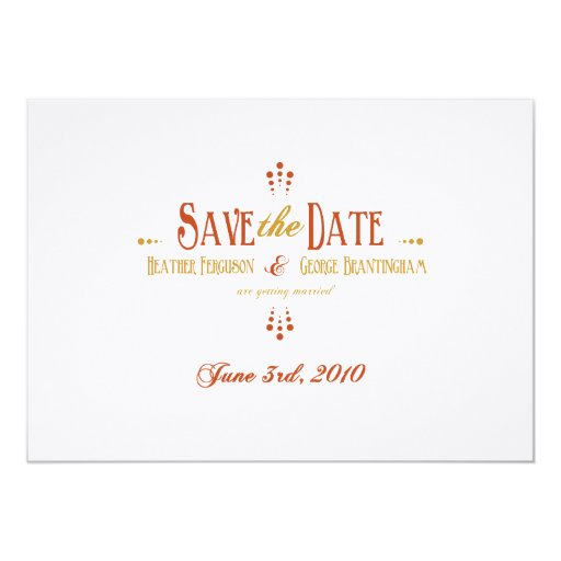Save the Date_Reserved for Heather and George Personalized Invitation