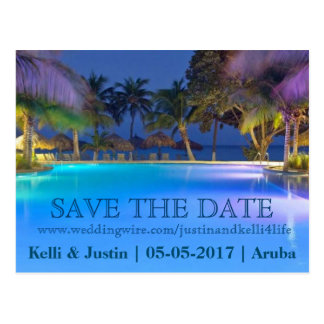 Save the Date | Resort Postcard Announcement Card