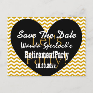 retirement save the date postcards zazzle