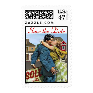 Save the Date Retro Love Stamp