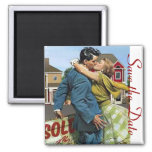 Save the Date Retro Magnet