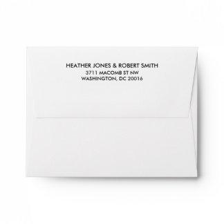 Save the Date Return Address Envelope