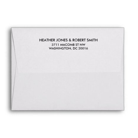 Save the Date Return Address Envelope