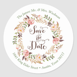 Save the Date Return Address Label Stickers