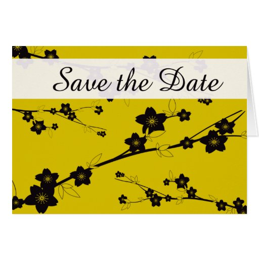 Save the Date - Rich Floral Greeting Card