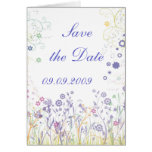 """Save the date"" Romantic Design Card"
