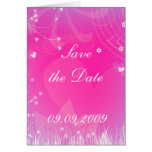 """Save the date"" Romantic Design Greeting Card"
