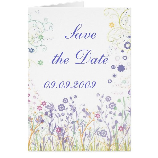 """""""Save the date"""" Romantic Design Greeting Card"""