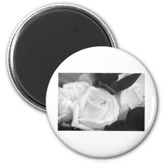 Save the Date Rose 2 Inch Round Magnet