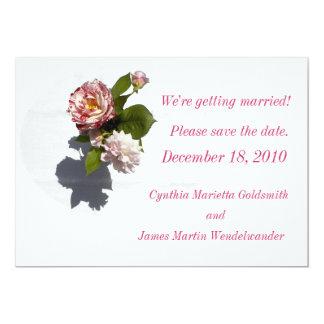 Save the Date: Rose Arrangement Card