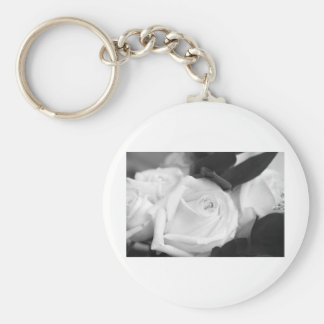 Save the Date Rose Basic Round Button Keychain