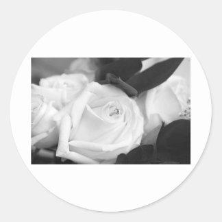 Save the Date Rose Classic Round Sticker