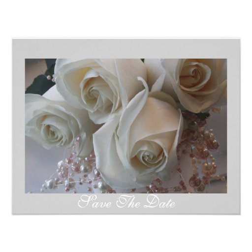 Save The Date Rose Invitation
