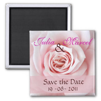 Save the Date rose magnet