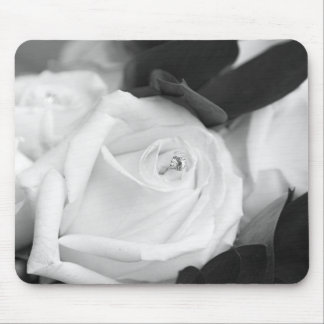 Save the Date Rose Mouse Pad