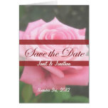 Save the date Roses Card