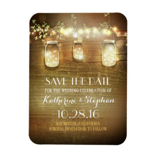 Rustic Save The Date Refrigerator Magnets | Zazzle