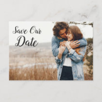 Save The Date Rustic Floral Skull Boho Photo Card