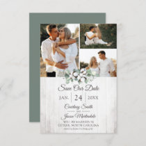 Save The Date Rustic Southern Cotton Wedding Card