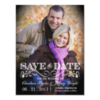 Save the Date Rustic Wedding Magnetic Photo Invite