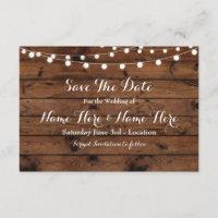 Save The Date Rustic Wood Rustic Elegant Invite