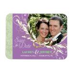 Save the Date - Sage & Lavender Photo Magnets Rectangular Magnet
