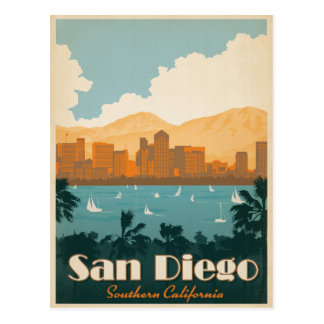 Save the Date | San Diego, CA Postcard