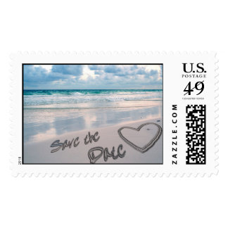 Save the Date Sand Heart Writing Stamps