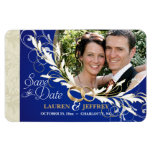 Save the Date - Sapphire Blue & Sage Photo Magnets