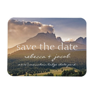 Save the Date/ Save Our Date Rustic Wedding Magnet