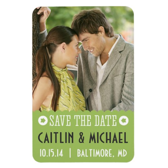 Save The Date Scalloped Magnet