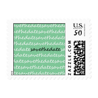 Save The Date Scribble Postage Stamps (Mint Green)