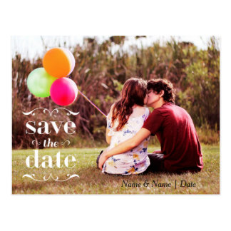 Save the Date Scroll Badge Postcard