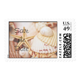 Save the Date Seashell Postage