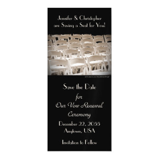 "Save the Date Sepia Vow Renewal 4"" x 9"" Magnet"