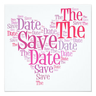 Save the date - shades of pink invites