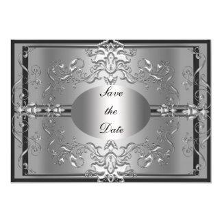 Save The Date Silver Elegant Invitation