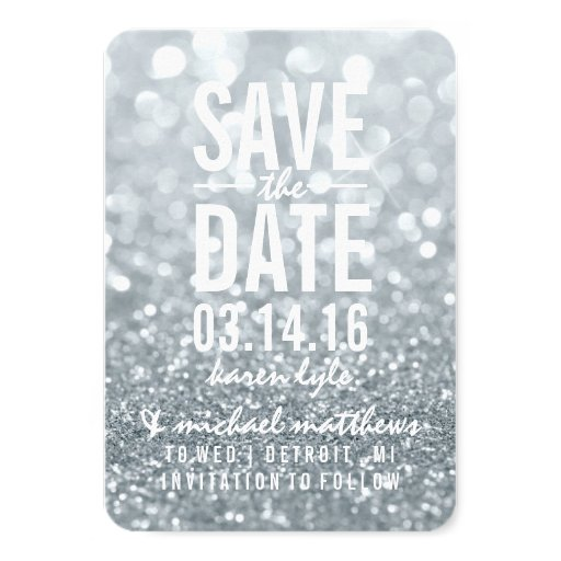 Save the Date Silver Lit...
