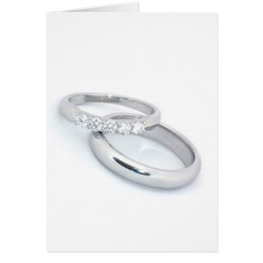Save the Date/Silver Wedding Bands Cards