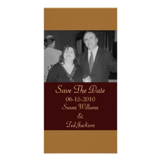 Save the Date simple brown Card