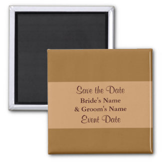 Save the Date simple brown Magnet