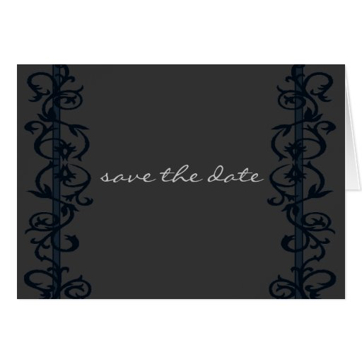 Save The Date simple elegant Greeting Card