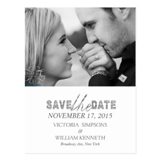 Save the date simple photo postcards