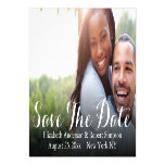 Save The Date | Simple Photo Template Magnetic Card