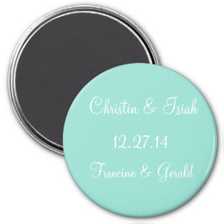 Save The Date Simple Single Color Magnet