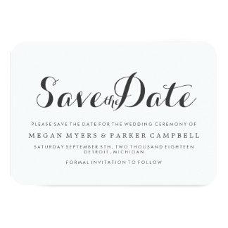 Save the Date   Simplistic Mod Card