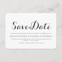 Save the Date | Simplistic Mod White Dark Grey